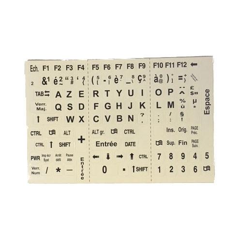 Autocollants clavier contrastés pour malvoyant