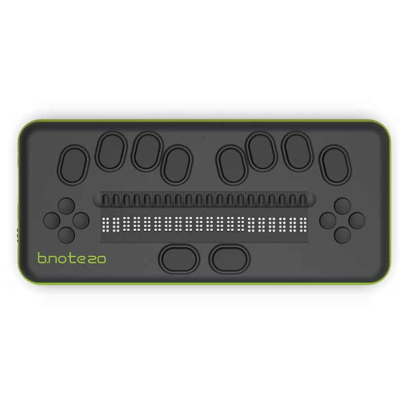 Plage braille 20 ou 40 cellules b.note du fabricant eurobraille pour aveugle