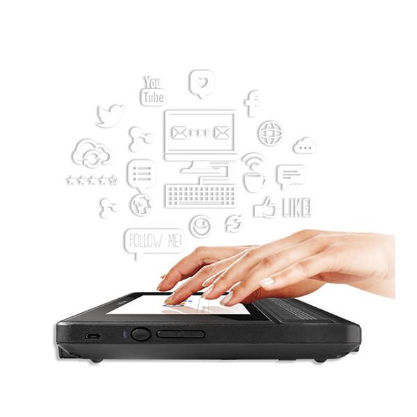 Tablette et bloc-notes braille BrailleNote Touch 18 fabriqué par Humanware