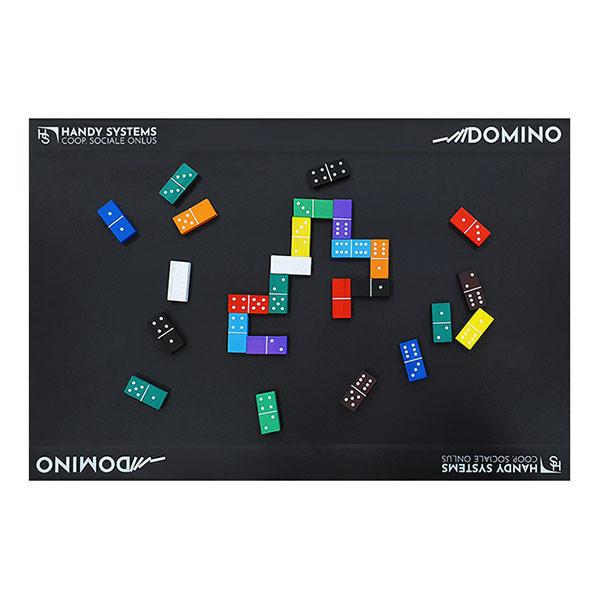 Dominos en relief avec plateau magnétique pour aveugle ou malvoyant