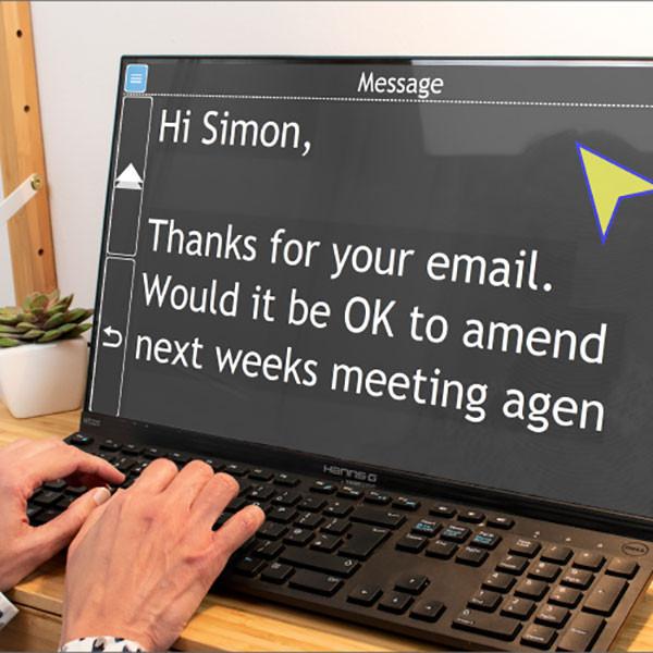 Assistant informatique parlant GuideConnect pour aveugle - emails