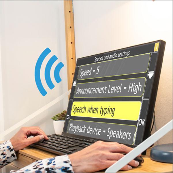Assistant informatique parlant GuideConnect pour aveugle - vocal