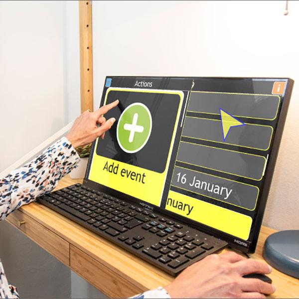 Assistant informatique parlant GuideConnect pour aveugle