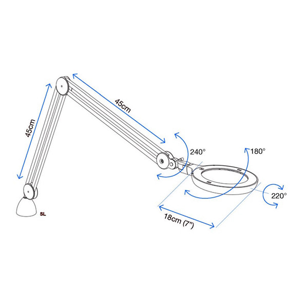 Lampe avec loupe Omega 5 Daylight 25110
