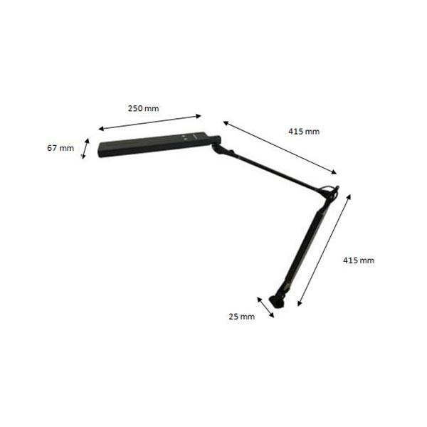 Lampe sur pince pour malvoyant avec double bras articulé Modulight 4