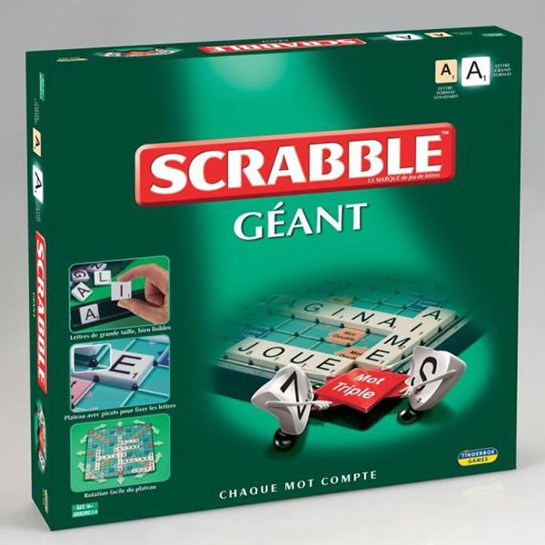 Jeu de société grands Scrabble Géant adapté aux aveugles et malvoyants