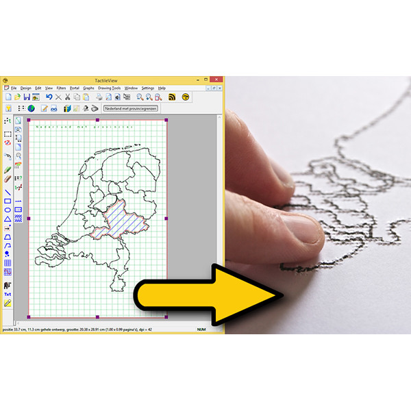 Logiciel de conception graphique relief TactileView