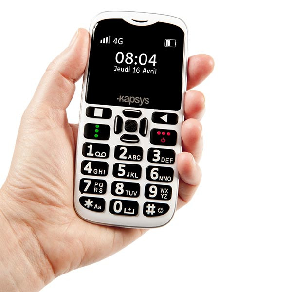 Téléphone simple et vocalisé MiniVision2 Kapsys pour aveugle ou malvoyant