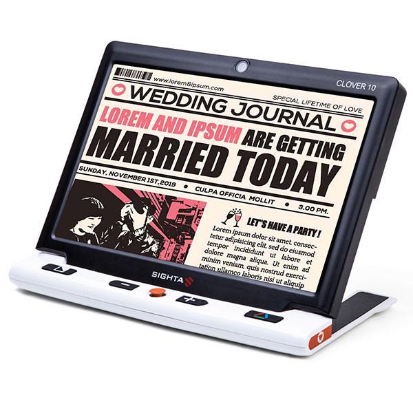 Loupe électronique portative Clover 10 pour malvoyant
