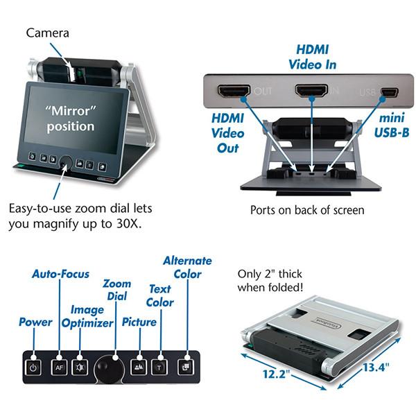 Vidéo-agrandisseur transportable VisioBook pour malvoyant