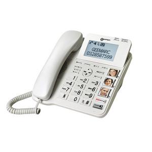 Téléphone amplifié avec photos Geemarc CL595 pour seniors, malvoyants ou malentendants