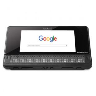 Tablette et bloc-notes braille BrailleNote Touch 32 fabriqué par Humanware