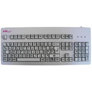 Le clavier agrandi VIGkeys présente une technique de marquage des touches pérenne (gravure) et des caractères agrandis.