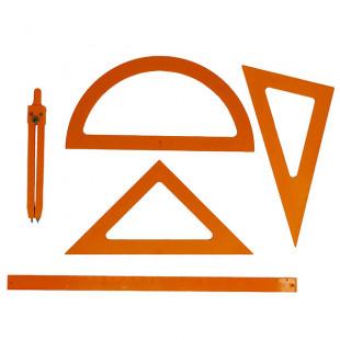 Kit de géométrie en relief pour aveugle et malvoyant